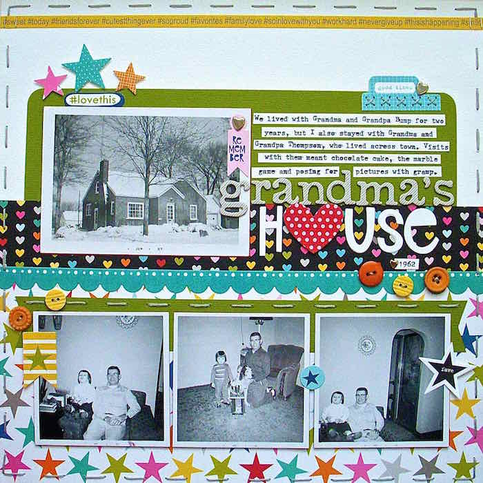 Scrapbooking Heritage Photos with Contemporary Product | Sue Althouse | Get It Scrapped