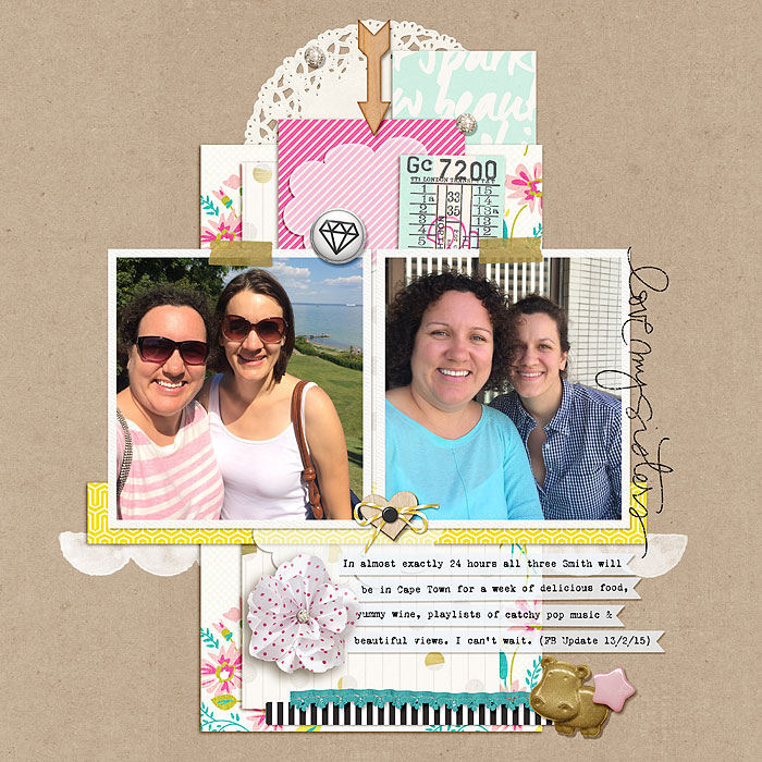 Scrapbook Page Sketch and Template #100   Heather Awsumb   Get It Scrapped