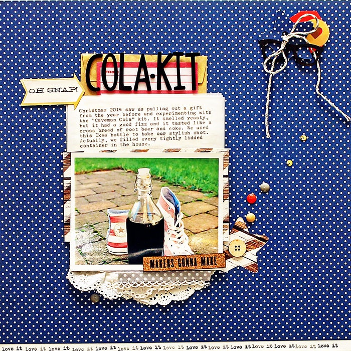 Scrapbook Page Sketch and Template #100   Sian Fair   Get It Scrapped