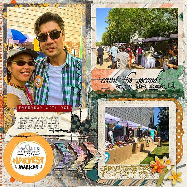 Scrapbook Page Starters: Arrange Your Page Elements Using a Sprawl Approach|Audrey Tan|Get It Scrapped