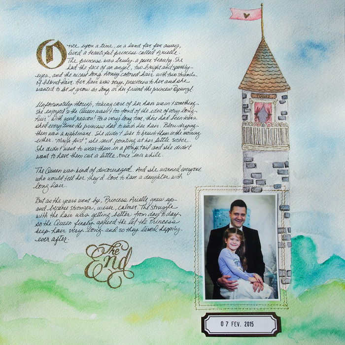 Ideas for Scrapbook Page Story Telling with A Fairy Tale Style | Marie-Pierre Capistran | Get It Scrapped