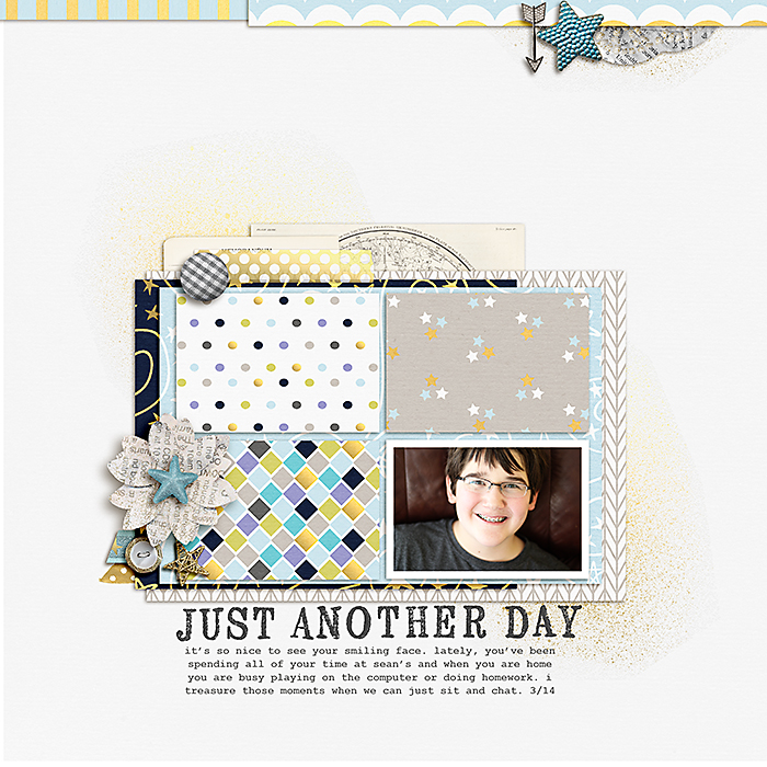 Scrapbook Page Sketch and Template #101 | Celeste Smith | Get It Scrapped