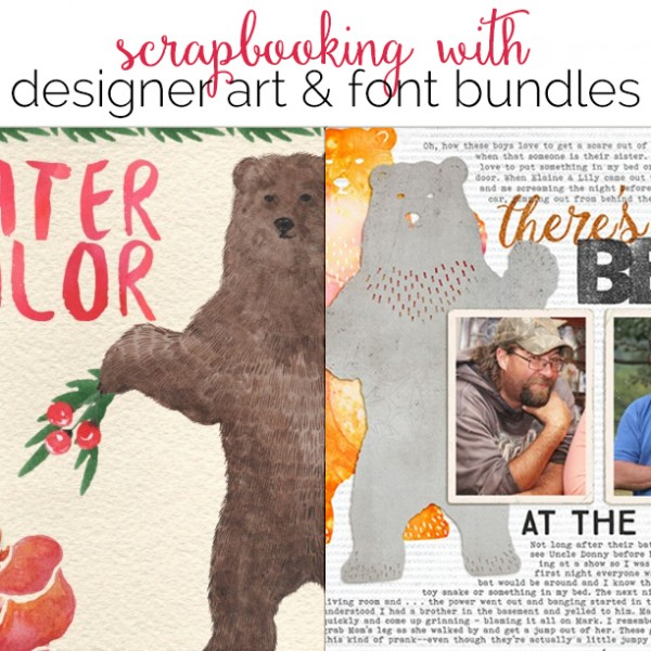 Ideas for Using Designer Art and Font Bundles for Your Digital and Hybrid Scrapbook Pages | Get It Scrapped