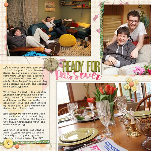 Ready for Passover by Debbie Hodge | Supplies: All About the Grid by Kaye Winiecki; Pixie Dust by Amy Wolff; Paintshop Styles, Painty Bits, Stitched in Spring by Amy Martin; Storyteller alpha Apr 2014 by Just Jaimee; Helena, Bohemian Typewriter fonts