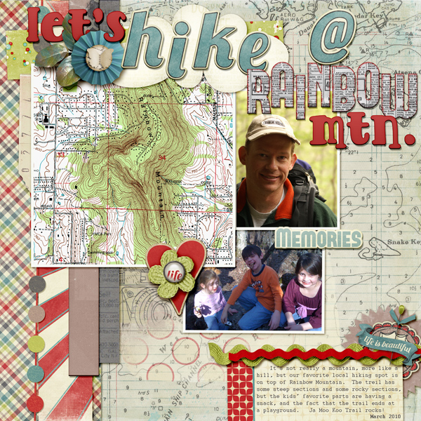 Scrapbooking Ideas for Getting Trendy Contour Lines on Your Page | Kelly Prang | Get It Scrapped