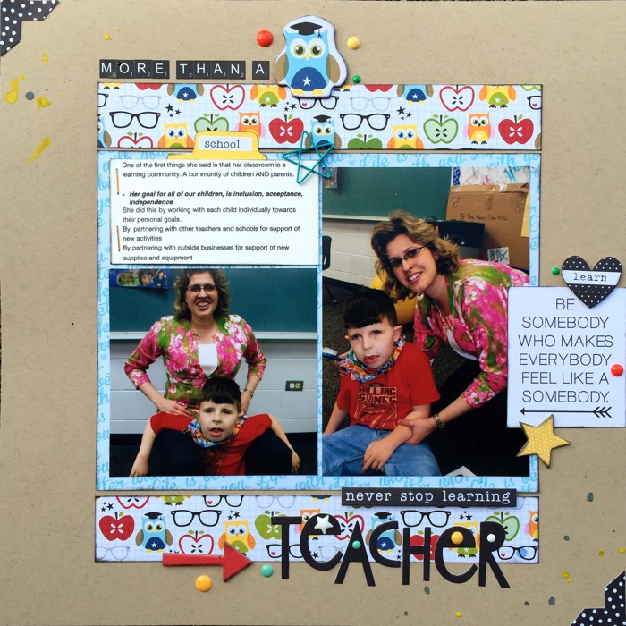 Ideas for Scrapbook Pages About An Important Teacher in  Your Life   Devra Hunt   Get It Scrapped
