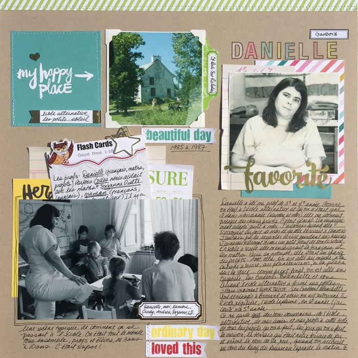Ideas for Scrapbook Pages About An Important Teacher in  Your Life   Marie-Pierre Capistran   Get It Scrapped