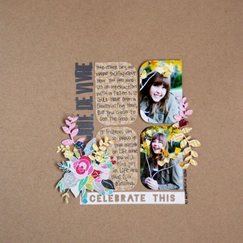 Scrapbook Page Sketch and Template #101   Emily Pitts   Get It Scrapped
