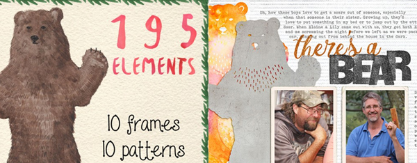 Ideas for Using Designer Art and Font Bundles for Your Digital and Hybrid Scrapbook Pages