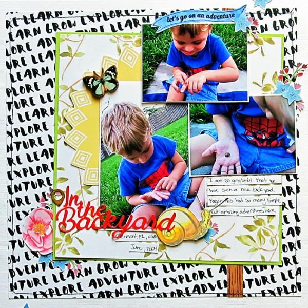 Ideas for Using Designer Art and Font Bundles for Your Digital and Hybrid Scrapbook Pages | Get It Scrapped | Christy Strickler
