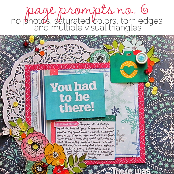 Start Your Next Scrapbook Page Here | Page Prompts No. 6 | Get It Scrapped