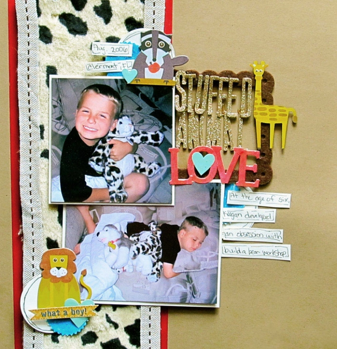 Scrapbooking Ideas for Working with Furry and Fuzzy Materials| Christy Strickler | Get It Scrapped