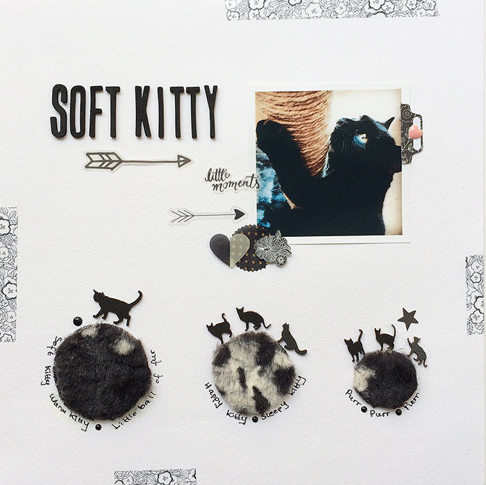 Scrapbooking Ideas for Working with Furry and Fuzzy Materials| Margareta Carlsson | Get It Scrapped