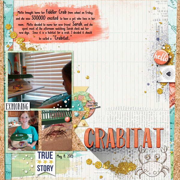 Scrapbooking Ideas for Using Trendy Long Shadows on the Scrapbook Page | Kelly Prang | Get It Scrapped