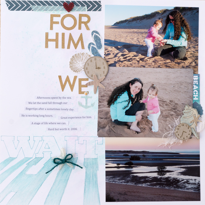 Scrapbooking Ideas for Using Trendy Long Shadows on the Scrapbook Page | Kristy T | Get It Scrapped