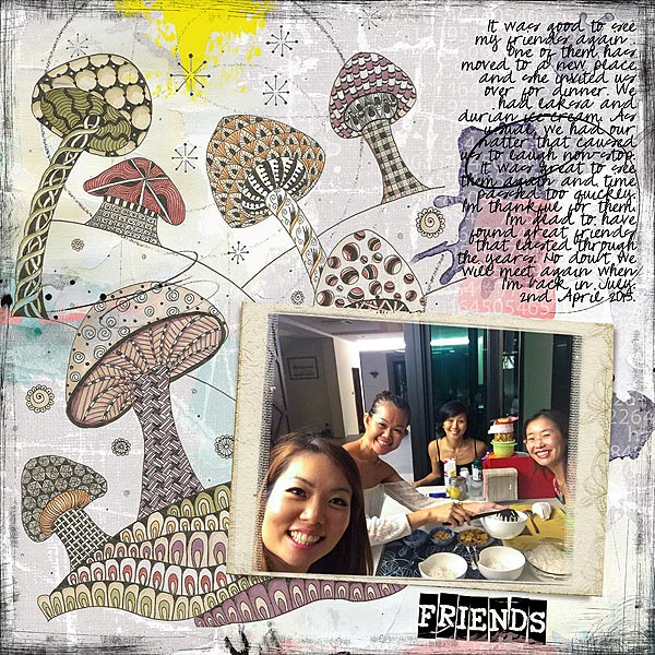 Scrapbooking Ideas for Zentangle Techniques on the Scrapbook Page | Audrey Tan | Get It Scrapped