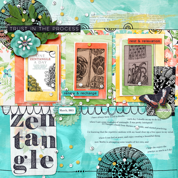 Zentangle: Practice and Peace"