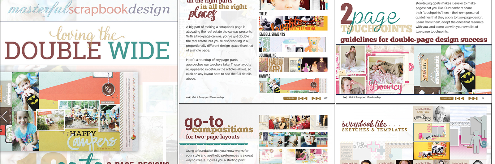 Loving the Double Wide | Ideas & Lessons for Scrapbooking Two-Page Layouts