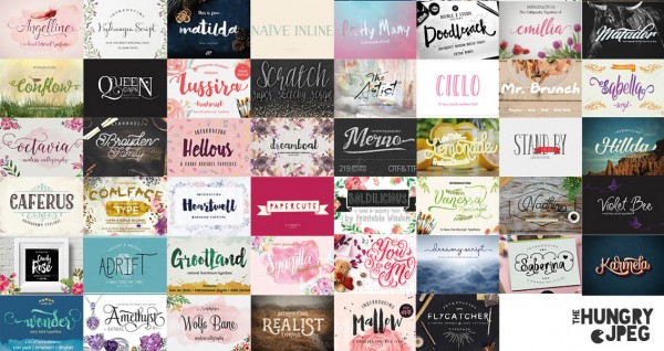 The Fontastic Font Bundle at The Hungry JPG | Get It Scrapped