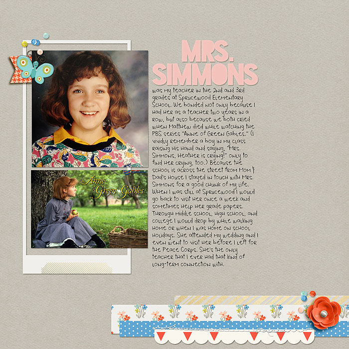 Ideas for Scrapbook Pages about Teachers Who Have Impacted  Your Life   Heather Awsumb   Get It Scrapped