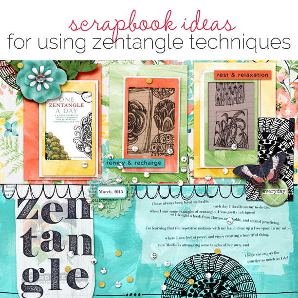 Scrapbooking Ideas for Zentangle Techniques on the Scrapbook Page | Get It Scrapped