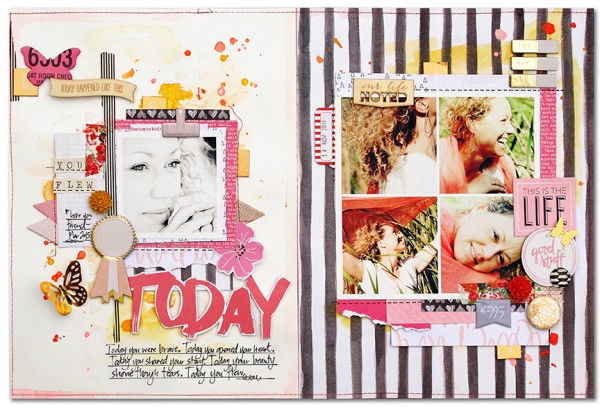5 Liftable Scrapbook Page Ideas from a Layout by Kim Watson