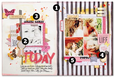 5 Liftable Scrapbook Page Ideas from a Layout by Kim Watson   Get It Scrapped