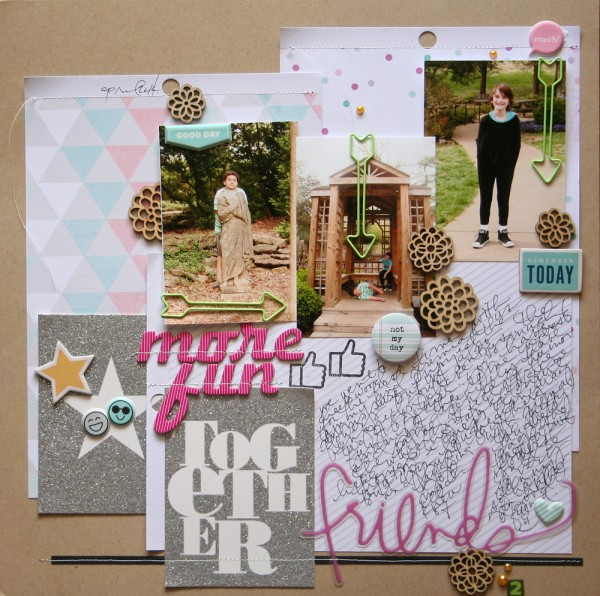 5 Liftable Scrapbook Page Ideas from a Layout by Doris Sander | Get It Scrapped