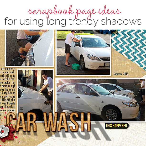 Scrapbooking Ideas for Using Trendy Long Shadows on the Scrapbook Page | Get It Scrapped