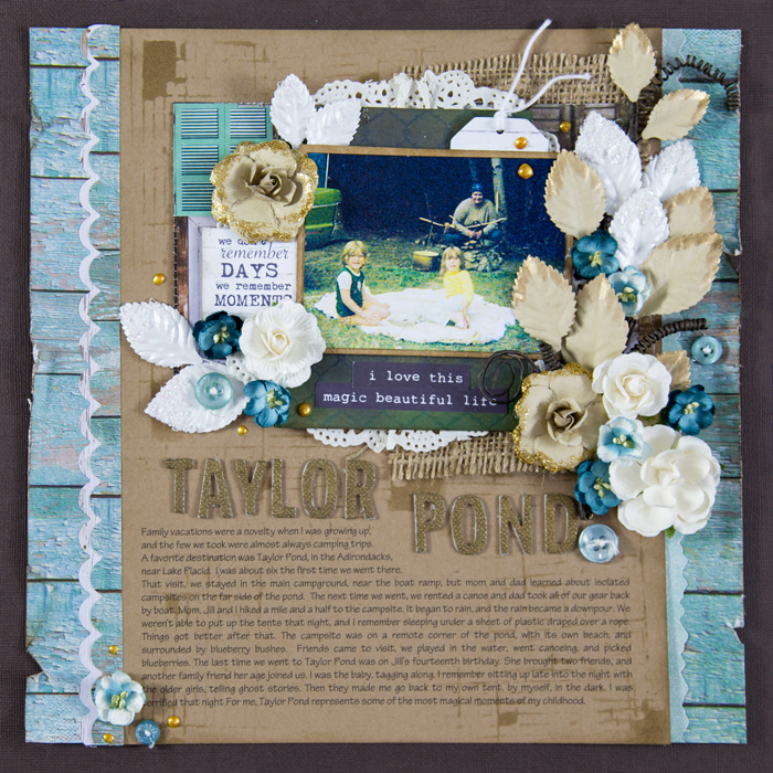 Ideas for Scrapbook Pages About Camping | Gretchen Henninger | Get It Scrapped