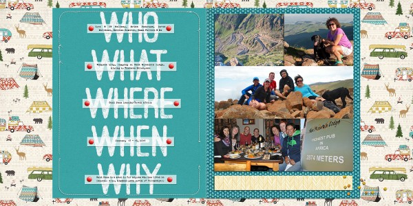 Ideas for Scrapbook Pages About Camping | Heather Awsumb | Get It Scrapped
