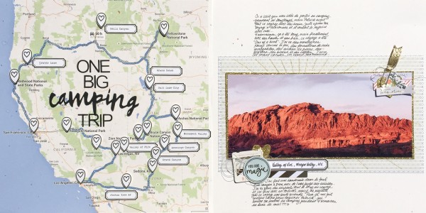 Ideas for Scrapbook Pages About Camping | Marie-Pierre Capistran | Get It Scrapped