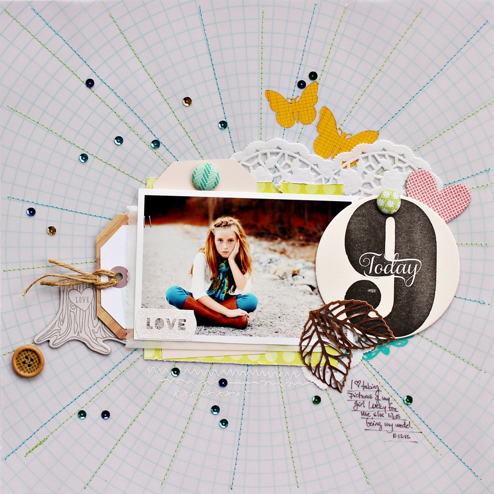 Scrapbook Page Sketch and Template #102 | Corrie Jones | Get It Scrapped