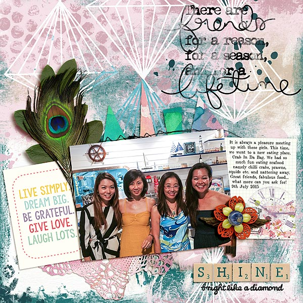 Scrapbooking Ideas and Techniques for Adding Relaxed-Geometry Patterns to the Page | Audrey Tan | Get It Scrapped