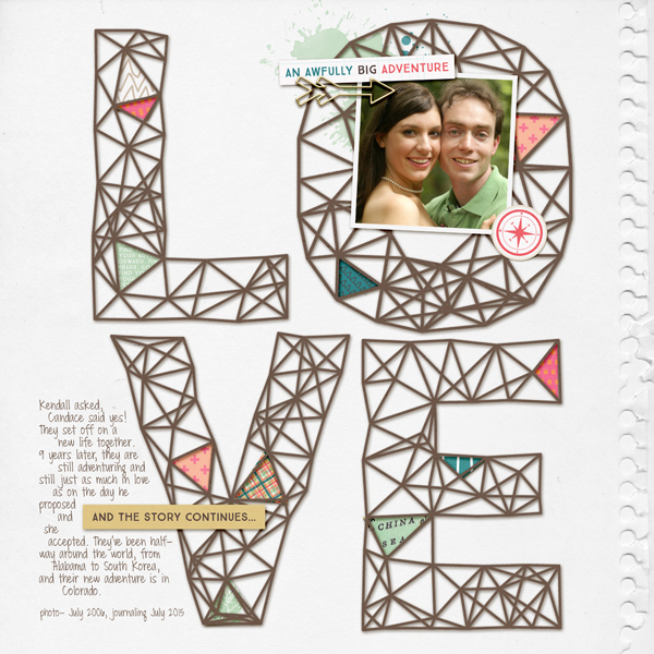 Scrapbooking Ideas and Techniques for Adding Relaxed-Geometry Patterns to the Page | Vicki Hibbins | Get It Scrapped