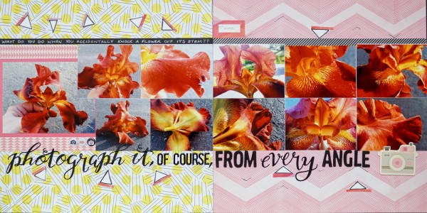 Scrapbooking Ideas and Techniques for Adding Relaxed-Geometry Patterns to the Page | Marcia Fortunato | Get It Scrapped