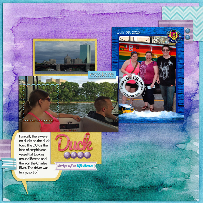 Scrapbook Page Sketch and Layered Template #103 | Jennifer Kellogg | Get It Scrapped