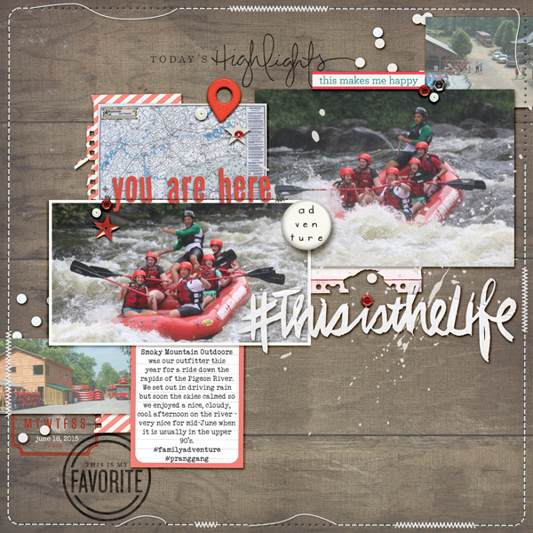 Scrapbook Page Sketch and Layered Template #103 | Kelly Prang | Get It Scrapped