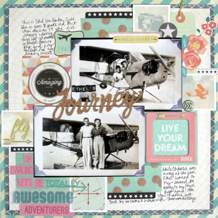 Scrapbook Page Sketch and Layered Template #103 | Katie Scott | Get It Scrapped