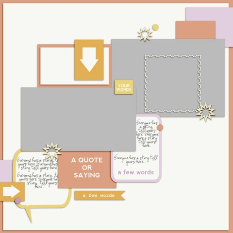 Scrapbook Page Sketch and Layered Template #103 | Get It Scrapped