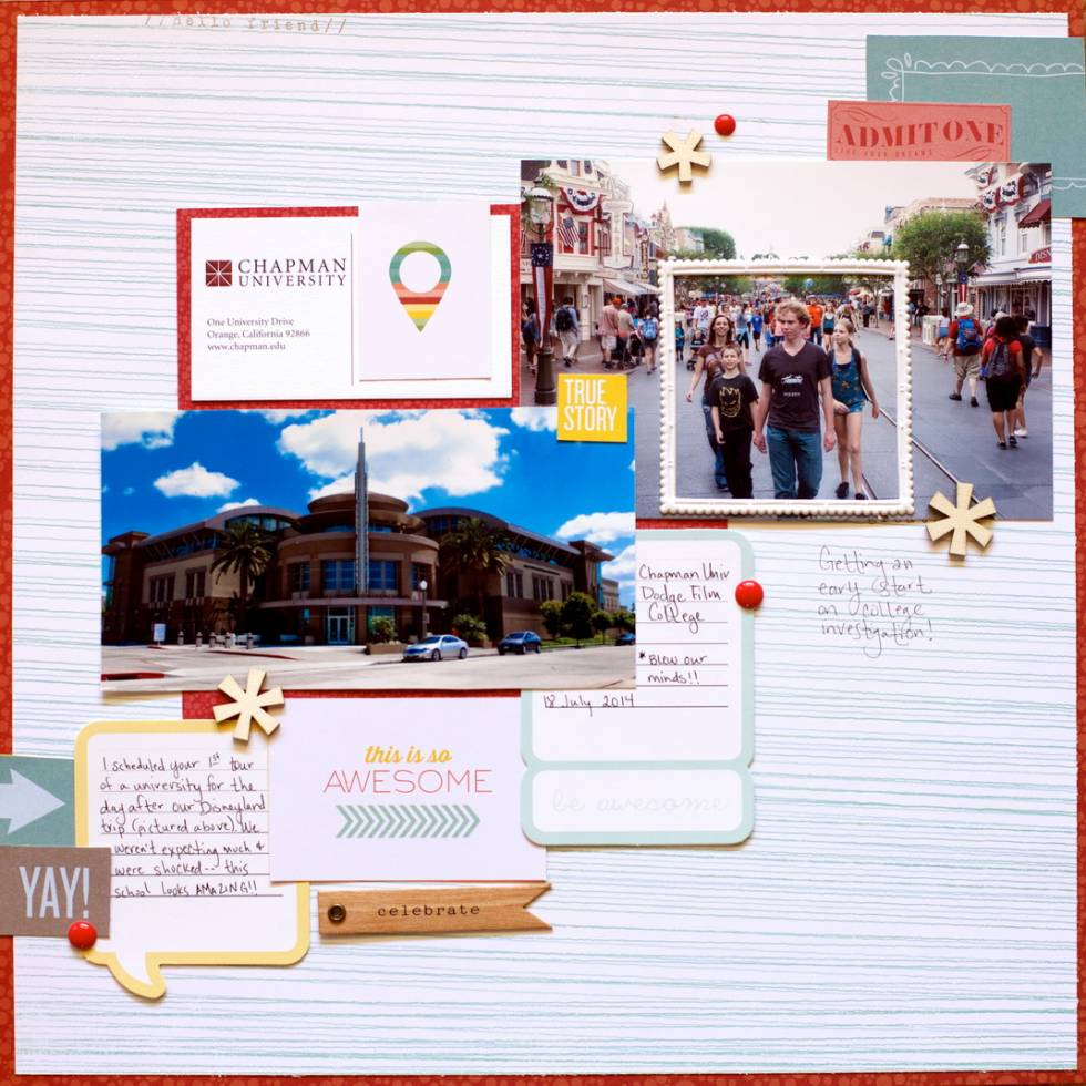 Scrapbook Page Sketch and Layered Template #103 | Noell Hyman | Get It Scrapped