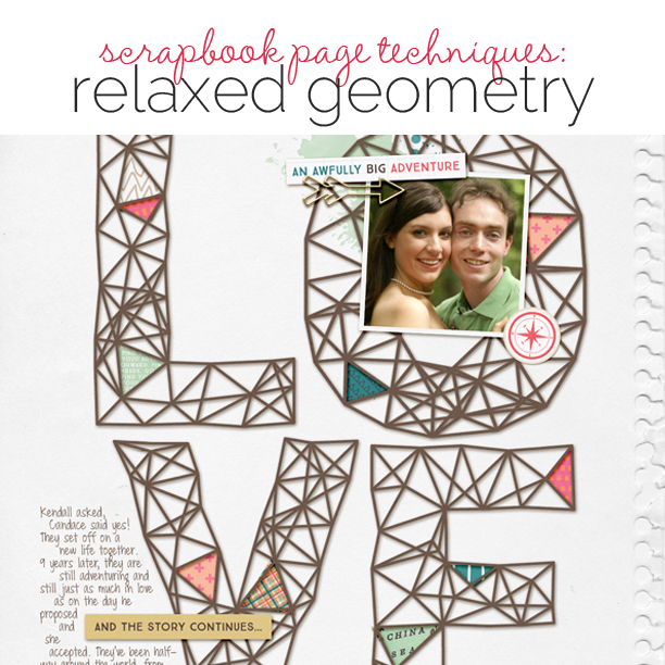 Scrapbooking Ideas and Techniques for Adding Relaxed-Geometry Patterns to the Page | Get It Scrapped