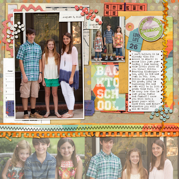 Scrapbook Page Sketch and Layered Template #104 | Kelly Prang | Get It Scrapped