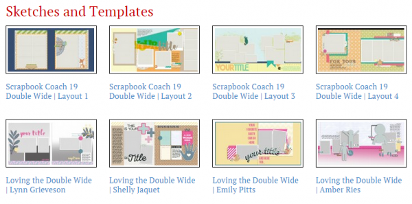 Eight new two-page sketches and layered templates for Photoshop included in a GIS membership.