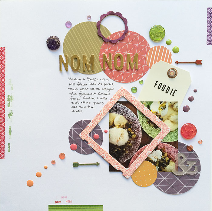Scrapbook Page Sketch and Layered Template #105 | Margareta Carlsson |Get It Scrapped