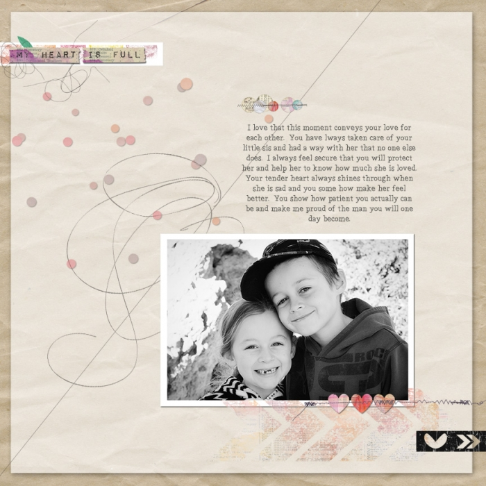 Scrapbook Page Sketch and Layered Template #105 | Leah Farquharson |Get It Scrapped