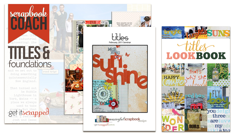 4 New Video Lessons on Scrapbook Page Titles