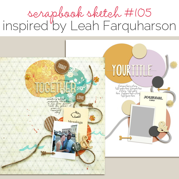Scrapbook Page Sketch and Layered Template #105 | Get It Scrapped