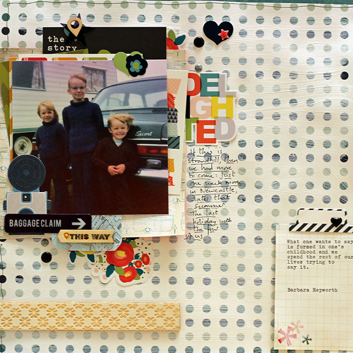 Scrapbook Page Focal Point Formula: Combine Title, Photo & Embellishment | Sian Fair | Get It Scrapped