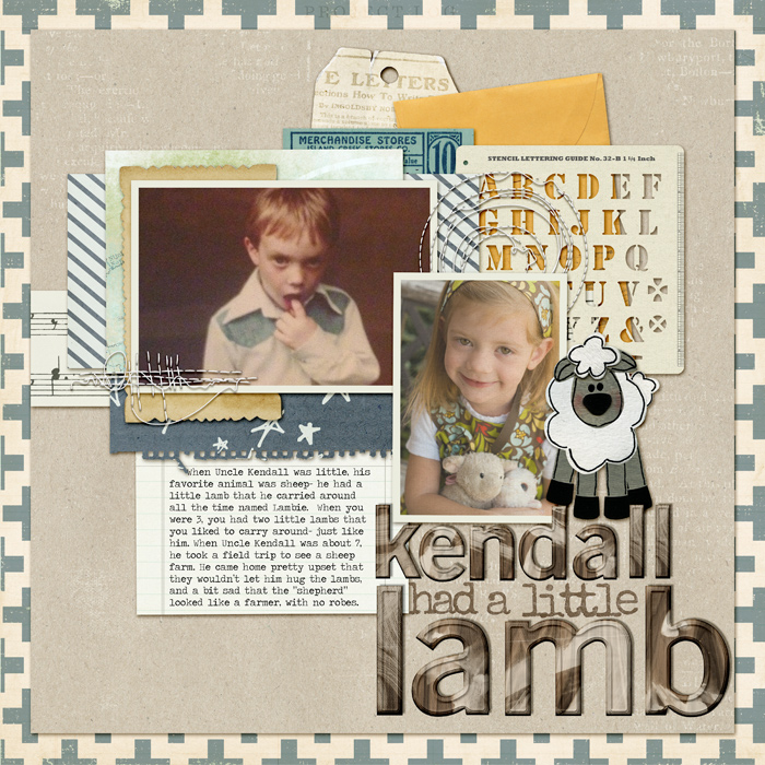 How to Use Scale and Density Differences to Mix Patterned Paper on the Scrapbook Page | Kelly Prang | Get It Scrapped